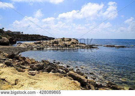 Beautiful Cabo De Palos Coast (murcia Community, Spain) On A Sunny Day Of Summer