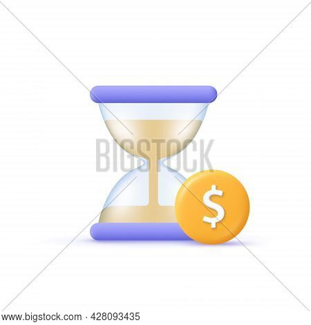 Business Vector Icon. Financial Invest Fund, Revenue Increase, Income Growth, Budget Plan Concept. H