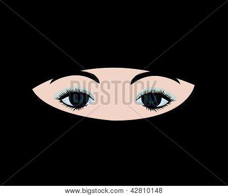 muslim girl in veil vector