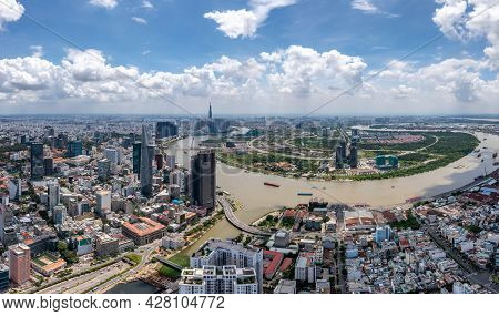 Saigon In Beautiful Day From Aerial View