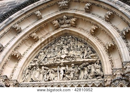 Ornate Arch Above A Church Door