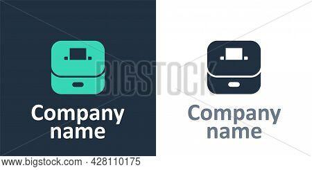 Logotype Vote Box Or Ballot Box With Envelope Icon Isolated On White Background. Logo Design Templat
