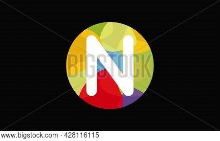 Colorful Letter N Logo Design Vector Template. Abstract Technology Letter N Logo Design