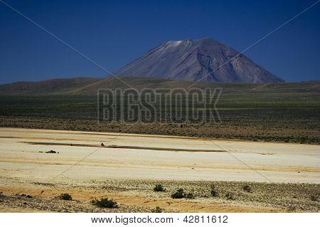 El Misti volcano in Salinas y Aguada Blanca National Park Peru poster