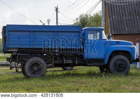 Truck With Flatbed Platform - Zil. Bashkortostan, Russia - 12 June, 2021.