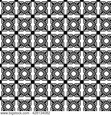 Black And White Geometric Pattern In Moroccan