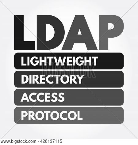 Ldap - Lightweight Directory Access Protocol Acronym, Technology Concept Background