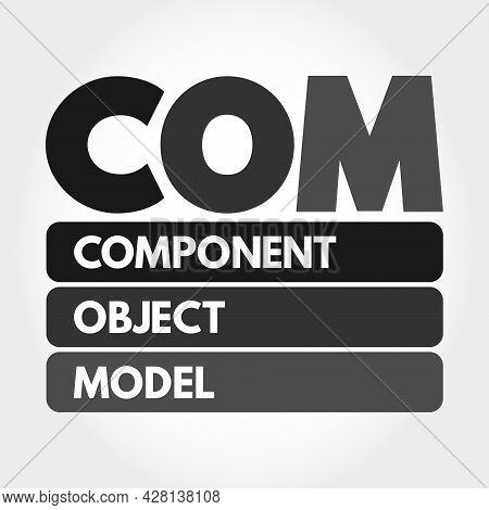 Com - Component Object Model Acronym, Technology Concept Background