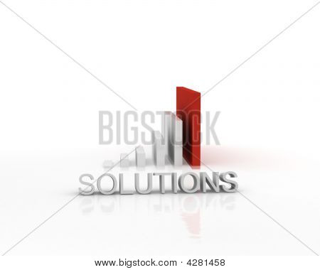 3-d Bar Graph Business Solutions