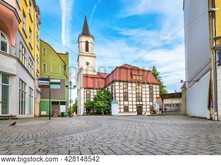 Zielona Gora, Poland. View Of Church Of Our Lady Of Czestochowa