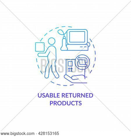 Usable Returned Products In Medical Industry Concept Icon. Healthcare Industry. Humanitarian Aid Exc