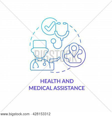 Health And Medical Assistance Concept Icon. Humanitarian Aid Solution. Individual Help And Watching