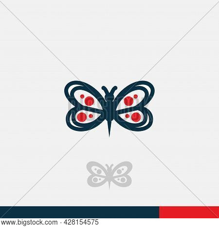 Butterfly Logo Icon Isolated On White Background - Trendy And Modern Butterfly Symbol For Logo, Web,