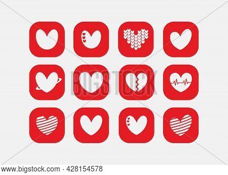 Simple Heart Icon - Love Logo Icon Sign - Heart Icon Vector, Love Hearts, Heart Icon Vector Isolated