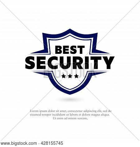 Vector Illustration Of A Shield With The Word Best Protection. Suitable For Design Elements From Pro