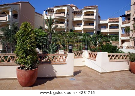 View Of Garden And Balconies/ Exterior Of Apartments