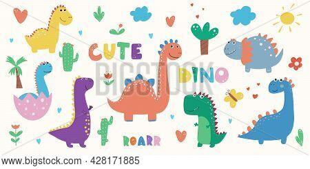 Dinosaur Clipart Dino Clipart Cute Dinosaur Graphics, Vector