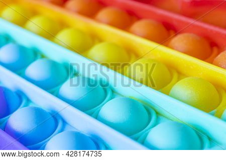 Colorful Antistress Sensory Toy Fidget Push Pop It Push Pop Bubble Flexible Fidget Sensory Toy Provi