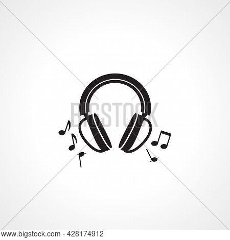 Headphones Icon. Headphones Simple Vector Icon. Headphones Isolated Icon.