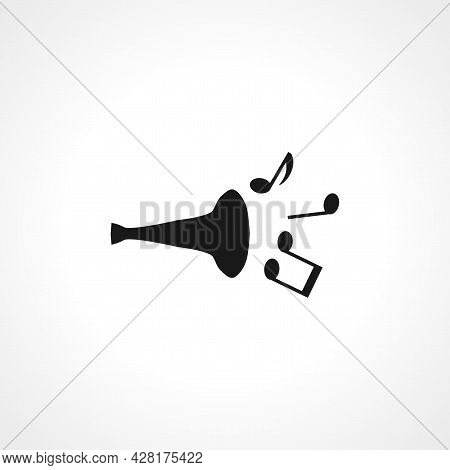 Music Trumpet Icon. Trumpet Simple Vector Icon. Trumpet Isolated Icon.