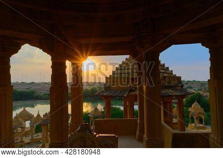 Bada Bagh Or Barabagh, Means Big Garden,is A Garden Complex In Jaisalmer, Rajasthan, India, For Roya