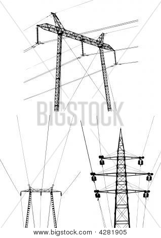 Electric Plant Vector Set