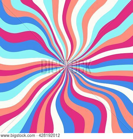 Abstract Psychedelic Groovy Background. Vector.