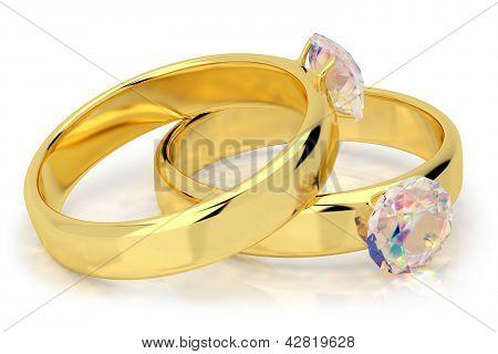 Wedding Rings With Diamond.