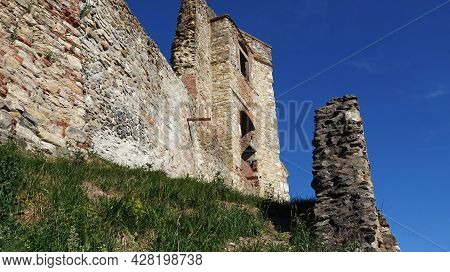 Walls Of Boskovice Castle, View From The Castle Grounds