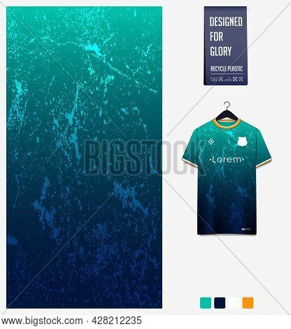 Soccer Jersey Pattern Design. Abstract Pattern On Green Background For Soccer Kit, Football Kit, Bic