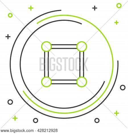 Line Geometric Figure Square Icon Isolated On White Background. Abstract Shape. Geometric Ornament.