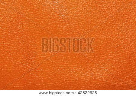 Natural Orange Leather Texture