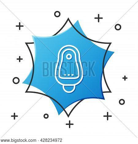 White Line Toilet Urinal Or Pissoir Icon Isolated On White Background. Urinal In Male Toilet. Washro