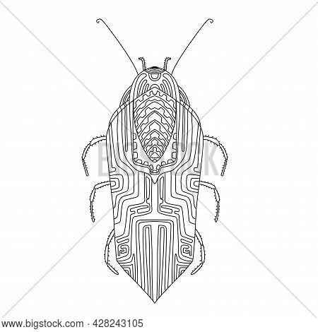 Beautiful Mockup For Print Design. Isolated Background. Cute Insects Vector Illustration. Vector Iso
