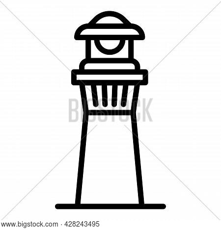 Harbor Lighthouse Icon. Outline Harbor Lighthouse Vector Icon For Web Design Isolated On White Backg