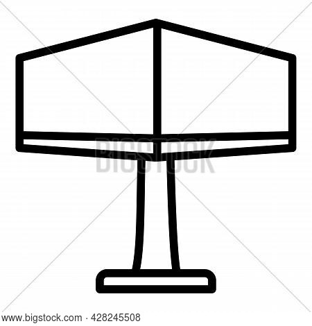 Outdoor Advertising Billboard Icon. Outline Outdoor Advertising Billboard Vector Icon For Web Design