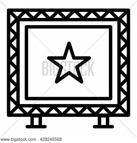 Big Screen Outdoor Advertising Icon. Outline Big Screen Outdoor Advertising Vector Icon For Web Desi