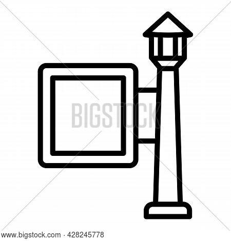 Media Outdoor Advertising Icon. Outline Media Outdoor Advertising Vector Icon For Web Design Isolate