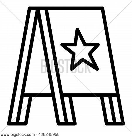 Marketing Outdoor Advertising Icon. Outline Marketing Outdoor Advertising Vector Icon For Web Design
