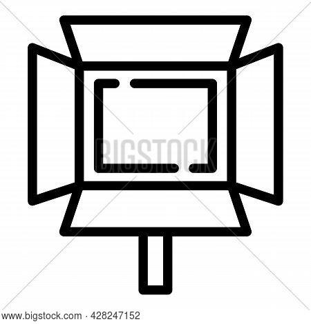 Photo Studio Light Icon. Outline Photo Studio Light Vector Icon For Web Design Isolated On White Bac