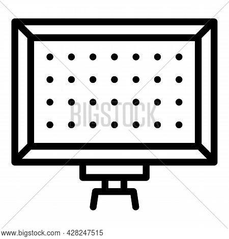 Modern Led Panel Light Icon. Outline Modern Led Panel Light Vector Icon For Web Design Isolated On W