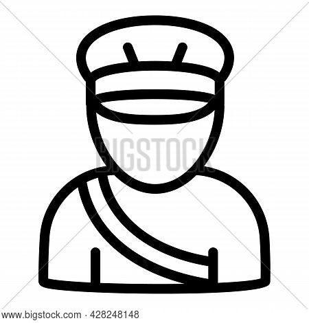 Old Postman Icon. Outline Old Postman Vector Icon For Web Design Isolated On White Background