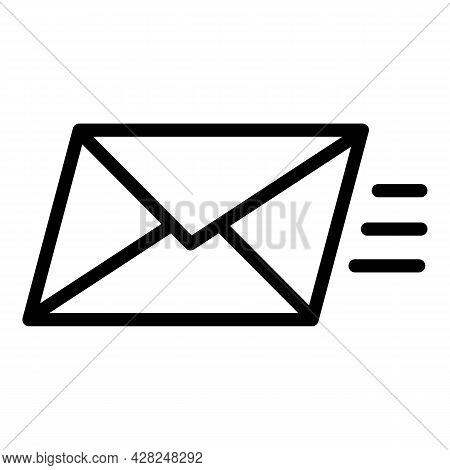 Fast Letter Send Icon. Outline Fast Letter Send Vector Icon For Web Design Isolated On White Backgro