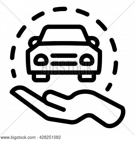 Take Car Sharing Icon. Outline Take Car Sharing Vector Icon For Web Design Isolated On White Backgro