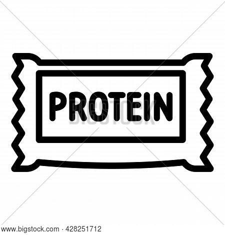 Protein Bar Icon. Outline Protein Bar Vector Icon For Web Design Isolated On White Background