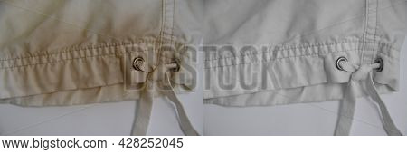 White Clothes Stain Before And After Housewife Housewife