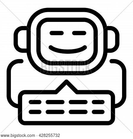 Chatbot Icon. Outline Chatbot Vector Icon For Web Design Isolated On White Background