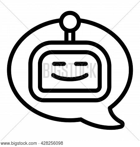 Robot Chatbot Icon. Outline Robot Chatbot Vector Icon For Web Design Isolated On White Background