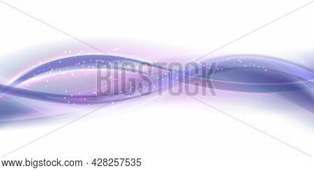 Soft Purple Wave Backround With Texture. Abstract Stylized Motion Wavy Illustration