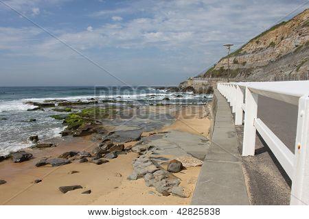 Seascape Of Newcastle Beach In Australia